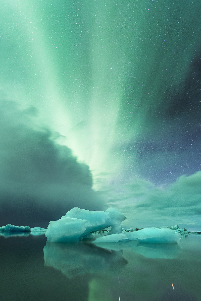 Northern Light Over the Lagoon